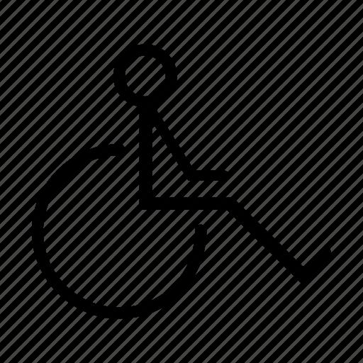 chair, health, wheel, wheelchair icon