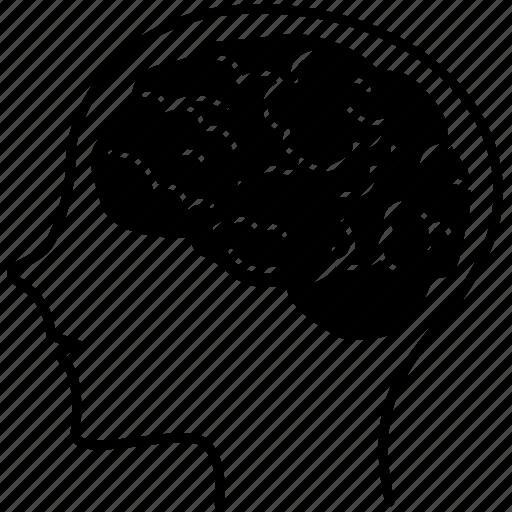avatar, brain, emoticon, genius, head, smiley, think icon