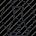 analysis, biochemical, care, health, laboratory, medicine, thin line icon