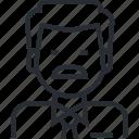 avatar, doctor, healthcare, man, medicine, profession, thin line icon