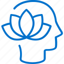 harmony, head, health, healthcare, lotus, mental, mind icon