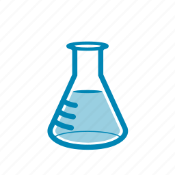 analysis, erlenmeyer, experiment, flask, fluid, laboratory, research icon