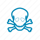 danger, hazard, skull, warning icon