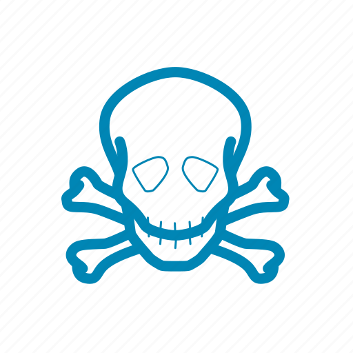 danger, hazard, skull, warning icon