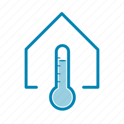 high, house, inside, temperature, thermometer icon