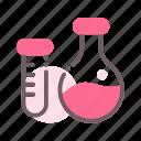 flask, tube, science, laboratory