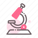 microscope, science, laboratory, research icon