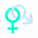 male, and, female, girl, boy icon