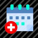 medical, date, calendar, schedule