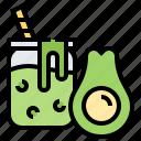 avocado, beverage, fruit, healthy, smoothie icon