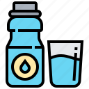 beverage, diet, drink, healthy, water icon