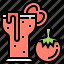 healthy, juice, tomato, vegan, vegetable