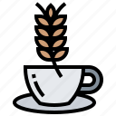 cup, diet, healthy, oat, vegetable icon