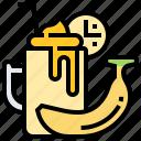 banana, beverage, food, healthy, smoothie icon