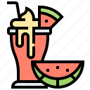 beverage, fruit, shake, smoothie, watermelon icon