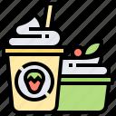 dessert, diet, food, healthy, yogurt icon