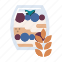 diet, food, granola, healthy, oatmeal, organic, snack icon