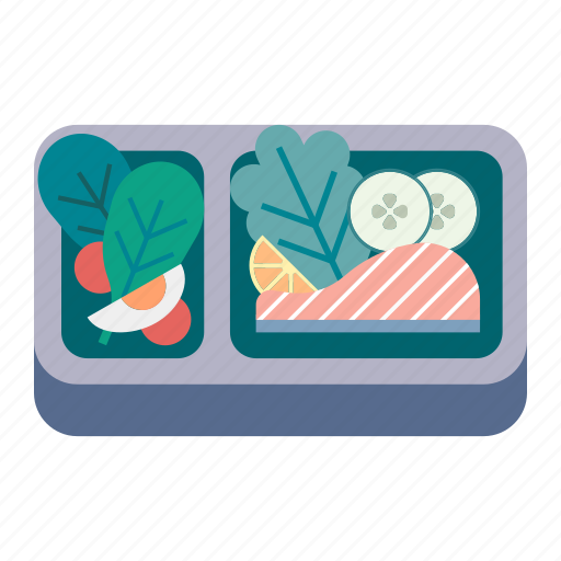box, food, healthy, lunch, lunchbox, meal, organic icon