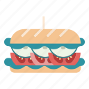diet, fast food, food, hamburger, healthy, sandwich, vegetables icon