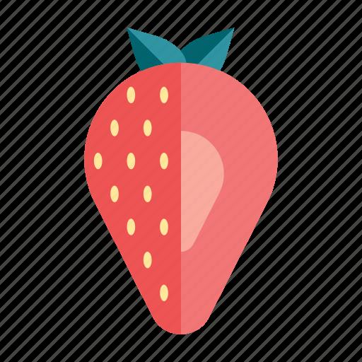 berry, diet, fresh, fruit, healthy, organic, strawberry icon