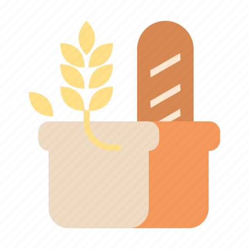 bakery, bread, grain, healthy, nutrition, wheat, whole grain icon