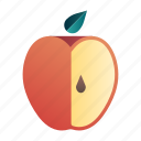 apple, diet, fresh, fruit, healthy, juicy, organic icon
