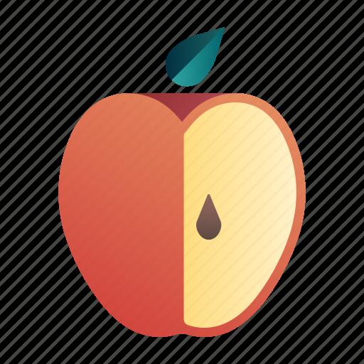 apple, diet, fresh, fruit, healthy, juicy, organic icon