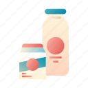 calcium, drink, food, fresh, healthy, milk, nutrient icon
