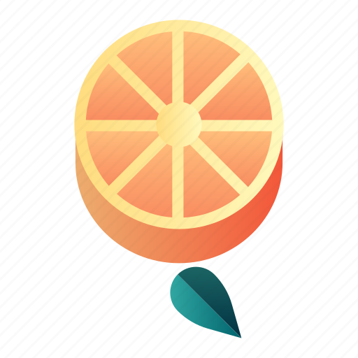citrus, diet, fresh, fruit, healthy, orange, organic icon