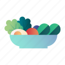 diet, food, fresh, healthy, organic, salad, vegetables icon