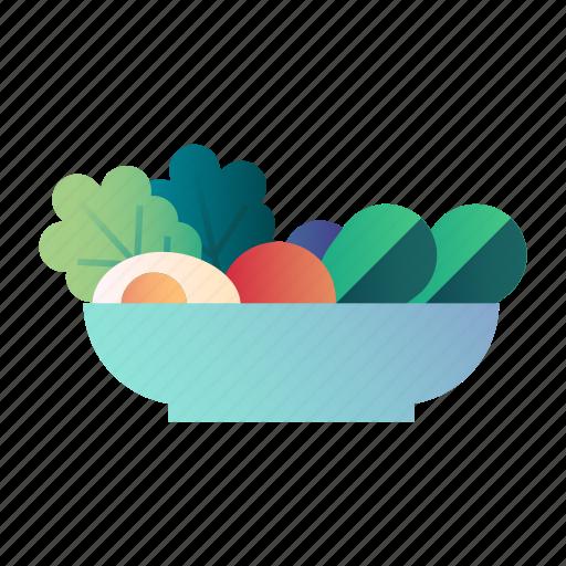 diet, food, fresh, healthy, organic, salad, vegetables icon