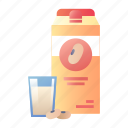 drink, healthy, milk, nutrition, protein, soy, soy milk icon