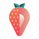 berry, diet, fresh, fruit, healthy, organic, strawberry icon