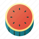 diet, fresh, fruit, healthy, organic, vegetarian, watermelon icon