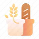 bakery, bread, grain, healthy, nutrition, wheat, whole grain icon