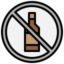 alcoholic, drinks, signaling, prohibition, cancel, drinking, alcohol icon
