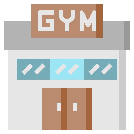 architecture, building, city, exercise, fitness, gym, sport icon