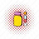 comics, health, healthcare, medical, medicine, pill, vitamin icon