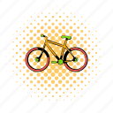 bicycle, bike, comics, cycle, race, vehicle, wheel icon