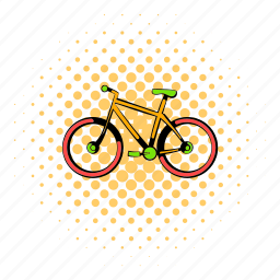 bicycle, bike, comics, cycle, race, vehicle, wheel icon