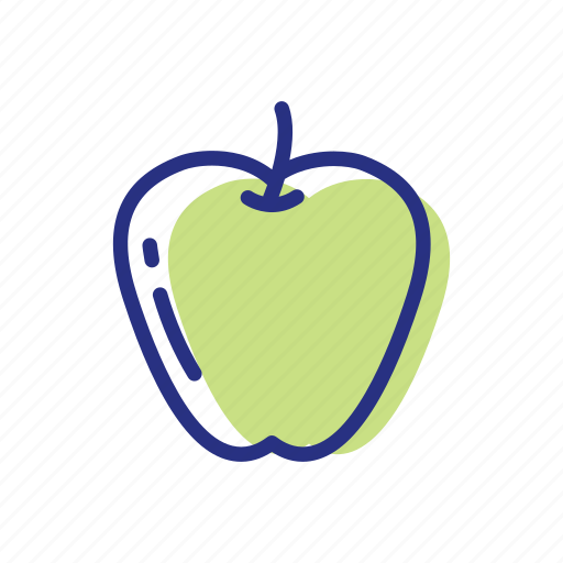 apple, fruit, healthy food icon