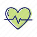 cardiogram, heart rate, pulse icon