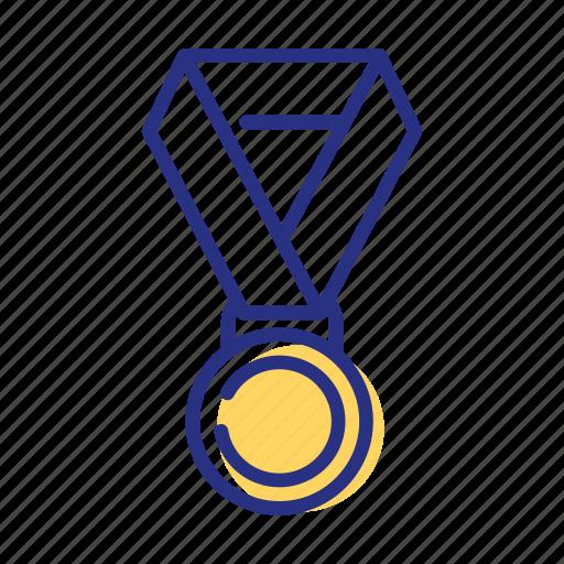 achievement, award, medal, sport icon