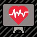 screen, monitor, rate, medical, pulse, love