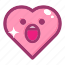 emoji, emotion, face, heart, love, smile icon