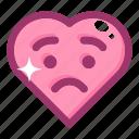 emoji, emotion, face, heart, love, smile icon