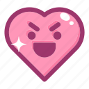 emoji, emotion, face, heart, love, smile