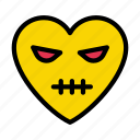 angry, face, heart, emoji, emoticon