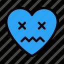 dizzyface, emoji, emoticon, feeling, heart