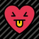 facewithtongue, heart, smiley, face, emoji
